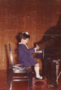 5歳。ピアノの発表会。